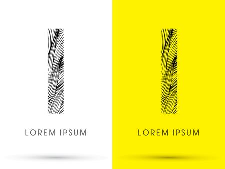 venation: I ,Font , hair line, graphic vector.