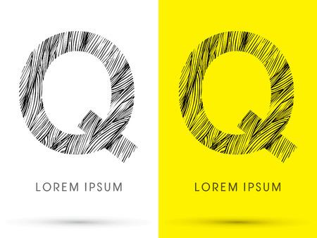 waver: Q ,Font , hair line, graphic vector.