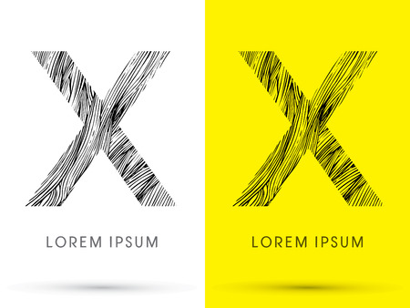 waver: X ,Font , hair line, graphic vector.