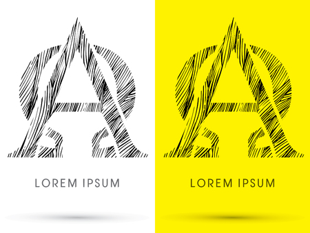 alpha: Alpha and Omega ,Font , hair line, graphic vector. Illustration