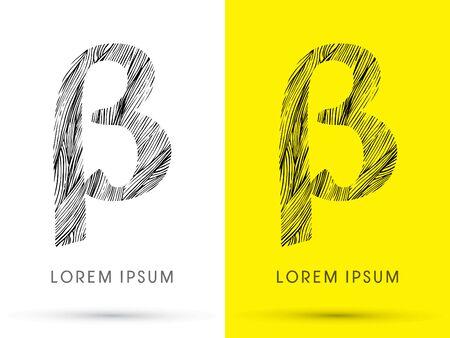 beta: Beta ,Font , hair line, graphic vector.