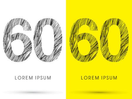 venation: 60 ,Font , hair line, graphic vector.
