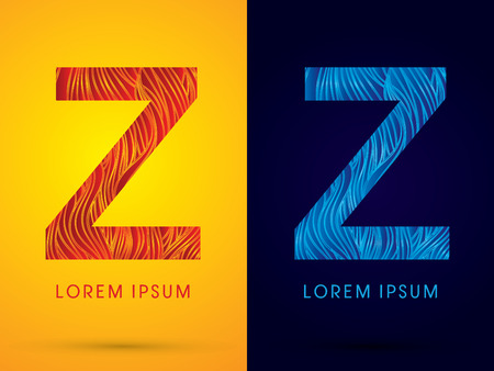 fire font: Z ,Font ,Text, designed using line fire and cool, graphic vector.