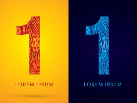 fire font: 1 ,Font ,Text, designed using line fire and cool, graphic vector.