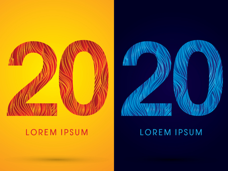 fire font: 20 ,Font ,Text, designed using line fire and cool, graphic vector.