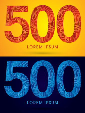 venation: 500 ,Font ,Text, designed using line fire and cool, graphic vector.