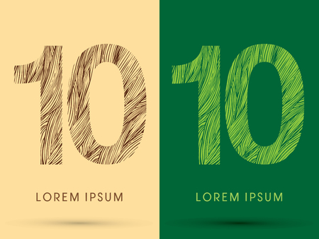 grass line: 10, Font, concept line stroke , wood and leaf, grass, graphic vector.