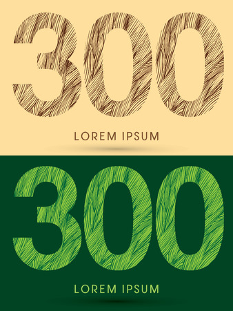 grass line: 300, Font, concept line stroke , wood and leaf, grass, graphic vector.