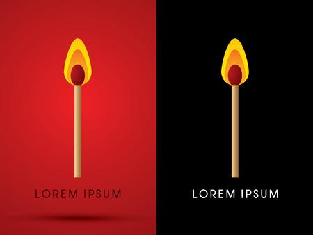 lit: Lit match ,graphic vector