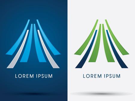 logotipo de construccion: Montaña, tienda, abstracto, gráfico vectorial.