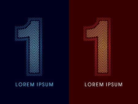 aglow: 1 ,abstract luxury font, Designed using cool and hot colors, line square, geometric shape, graphic vector.