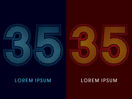 aglow: 35 ,abstract luxury font, Designed using cool and hot colors, line square, geometric shape, graphic vector.