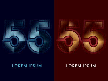 irradiate: 55, fuente de lujo abstracto, Dise�ado utilizando colores fr�os y calientes, plaza de l�nea, forma geom�trica, vector gr�fico.
