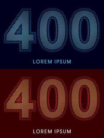 irradiate: 400, fuente de lujo abstracto, Dise�ado utilizando colores fr�os y calientes, plaza de l�nea, forma geom�trica, vector gr�fico.
