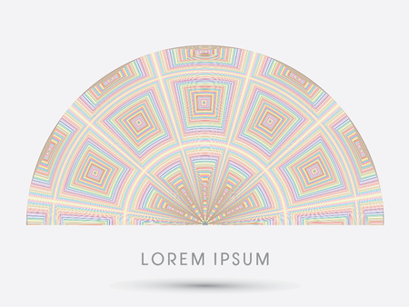 dome building: Abstract Dome, Building, designed using colorful line and square graphic vector. Illustration