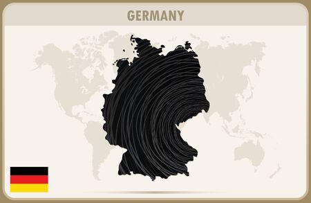 deutschland karte: DEUTSCHLAND Karte Vektor-Grafik. Illustration
