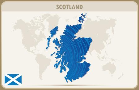 graphic: SCOTLAND  map graphic vector.