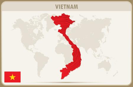 graphic: VIETNAM  map graphic vector.