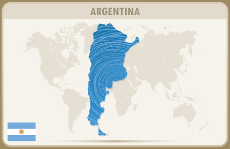 argentina map: ARGENTINA  map graphic vector.