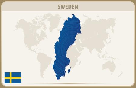 sweden map: SWEDEN  map graphic vector.