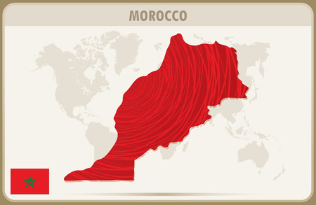 morocco: MOROCCO  map graphic vector.