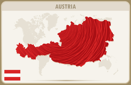 austria: AUSTRIA  map graphic vector. Illustration