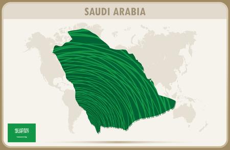 saudi arabia: SAUDI ARABIA  map graphic vector. Illustration
