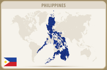 philippines  map: PHILIPPINES  map graphic vector. Illustration