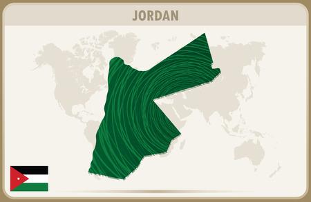 jordan: JORDAN  map graphic vector. Illustration