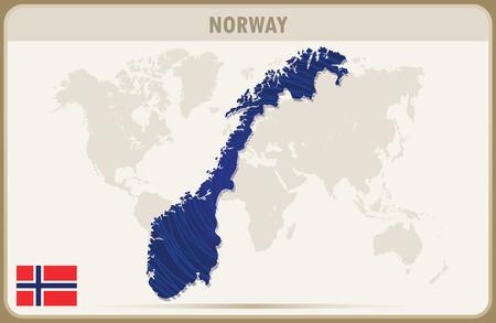 norway: NORWAY  map graphic vector.