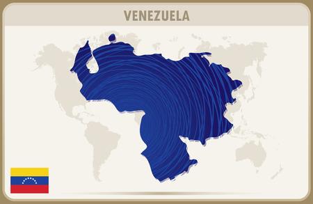 mapa de venezuela: VENEZUELA mapa gráfico vectorial. Vectores