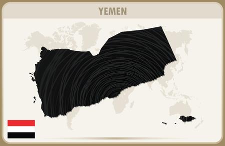 yemen: YEMEN map graphic vector.