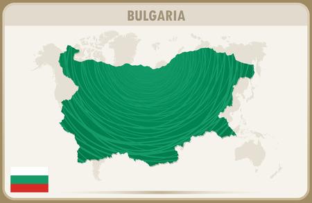 bulgaria: BULGARIA  map graphic vector.