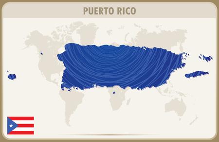 PUERTO RICO  map graphic vector.