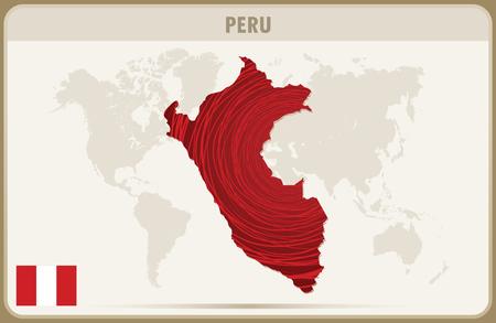 mapa del peru: PERÚ mapa gráfico vectorial.