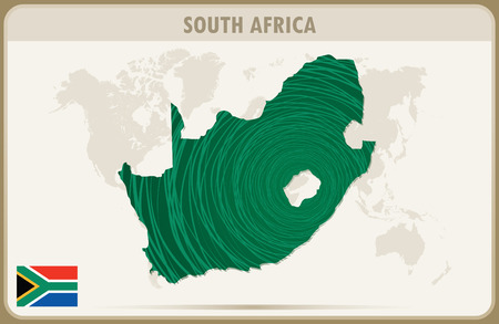 south africa map: SOUTH AFRICA map graphic vector.