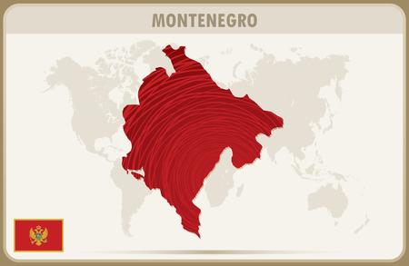 MONTENEGRO  map graphic vector.