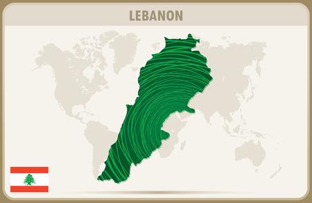 lebanon: LEBANON  map graphic vector.