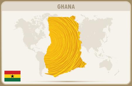 Ghana: GHANA  map graphic vector. Illustration