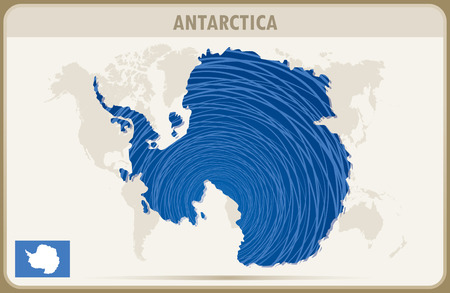 antarctica: ANTARCTICA  map graphic vector. Illustration