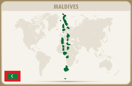 MALDIVES Map Graphic Vector. Royalty Free Cliparts, Vectors, And ...
