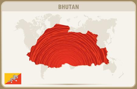 bhutan: BHUTAN  map graphic vector.