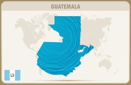guatemala: GUATEMALA  map graphic vector. Illustration