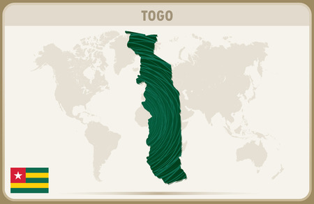 togo: TOGO map graphic vector. Illustration