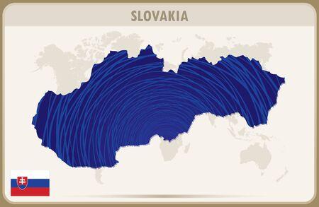 SLOVAKIA map graphic vector. Illustration