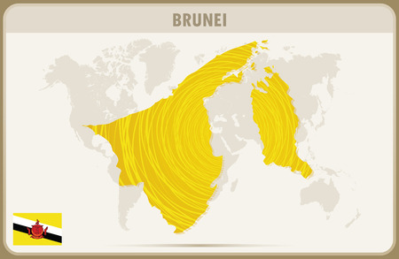 map of brunei: BRUNEI  map graphic vector.