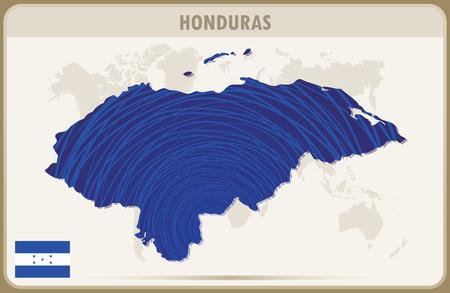 honduras: HONDURAS map graphic vector.