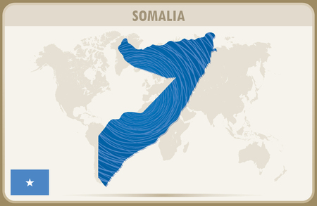 somalia: SOMALIA  map graphic vector.