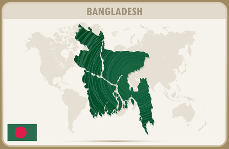 bangladesh: BANGLADESH map graphic vector.