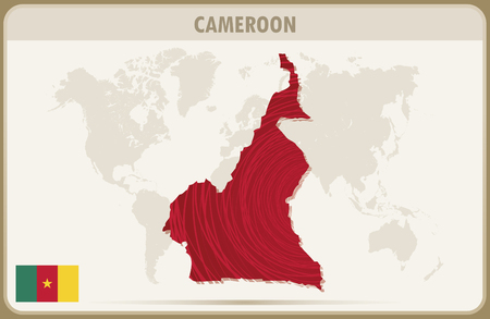 cameroon: CAMEROON map graphic vector.